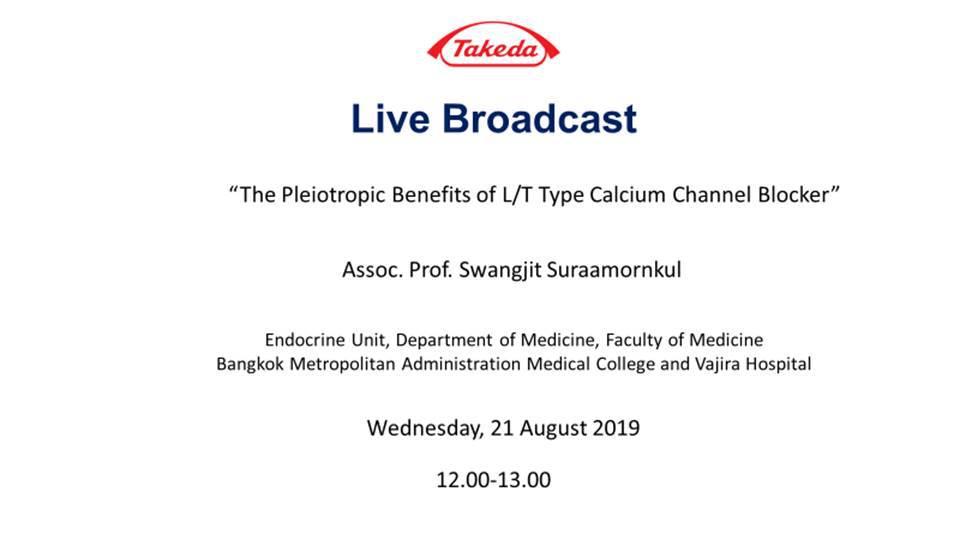 The pieiotropic benefits L/T Type Calcium Channel Blocker