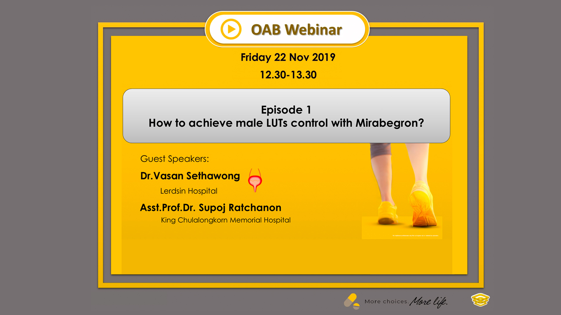 OAB Webinar | How to achieve male LUTs control with Mirabegron