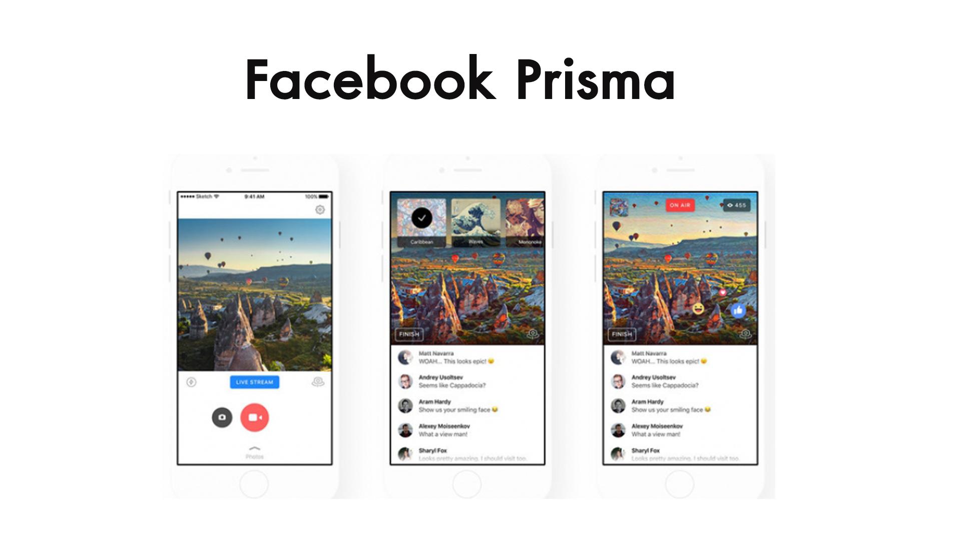 Facebook สามารถใช้งานฟิลเตอร์แอพฯ Prisma สำหรับ Live สดได้แล้วบนสมาร์ทโฟนระบบ iOS