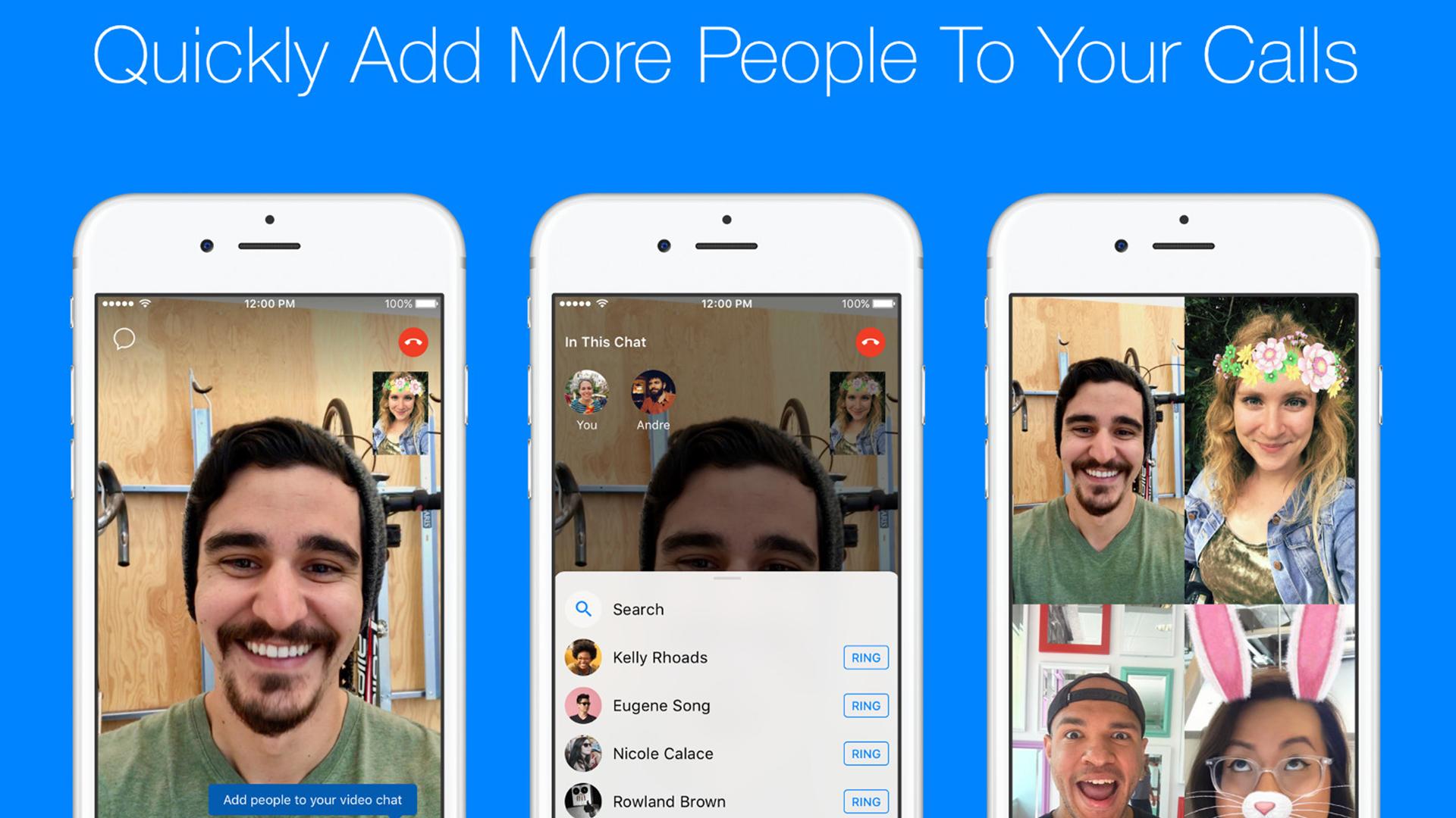 Facebook Messenger เพิ่มคนในวิดีโอคอลได้ระหว่างคุยได้แล้ว!